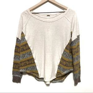 Free People | Oversized Cream Sweater